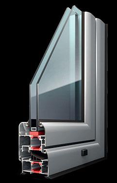 Ανοιγόμενο κούφωμα Exalco Albio 125c με θερμοδιακοπή