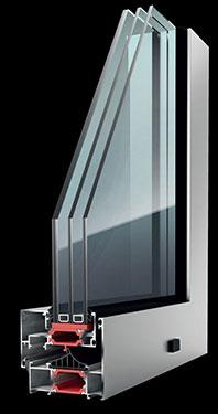Ανοιγόμενο κούφωμα Exalco Albio 127c Super Thermo με θερμοδιακοπή