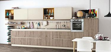 Σύνθεση μοντέρνων επίπλων κουζίνας Ank