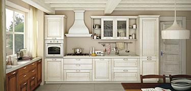 Σύνθεση κλασσικών επίπλων κουζίνας Oprah