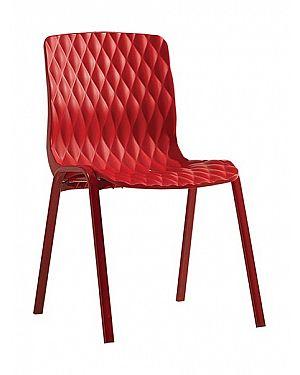 Καρέκλα πολυπροπυλενίου Royal με μεταλλικό σκελετό