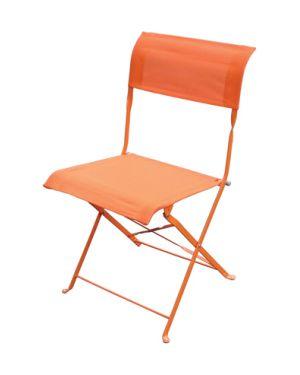 Πτυσσόμενη μεταλλική καρέκλα GAZI PVC