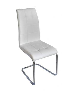 Μεταλλική νίκελ καρέκλα DC-4514-1 με τεχνόδερμα