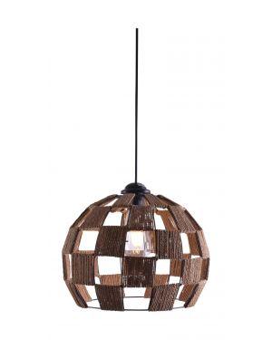 Μεταλλικό κρεμαστό φωτιστικό Ball M με σχοινί