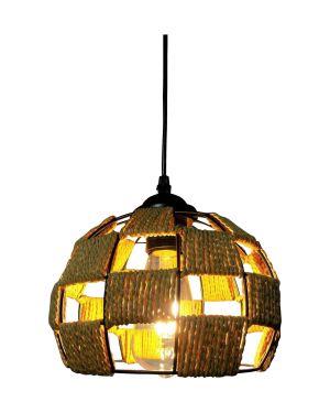 Μεταλλικό κρεμαστό φωτιστικό Ball S με σχοινί