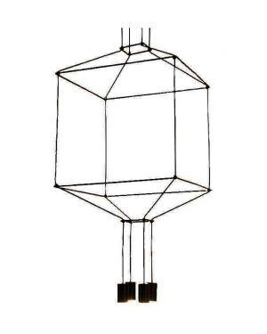 Μεταλλικό κρεμαστό φωτιστικό Cavi 4 με γυαλί