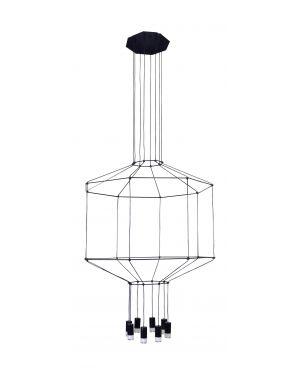 Κρεμαστό φωτιστικό Cavi 8 από μέταλλο & γυαλί