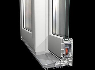 Συνθετικό κούφωμα PVC, ανασυρόμενο, HST Premi door