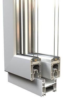 Συνθετικό συρόμενο κούφωμα PVC, επάλληλο, SF2
