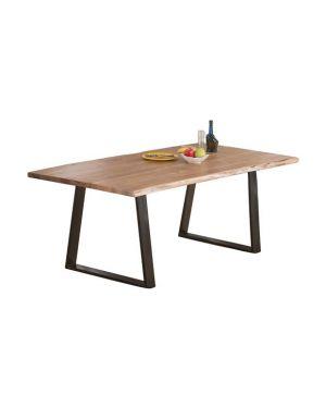 Μεταλλικό τραπέζι LIZ με ξύλινη επιφάνεια