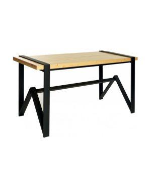 Μεταλλικό τραπέζι Polis με ξύλινη επιφάνεια
