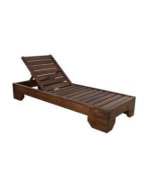 Μασίφ ξύλινη ξαπλώστρα Milos