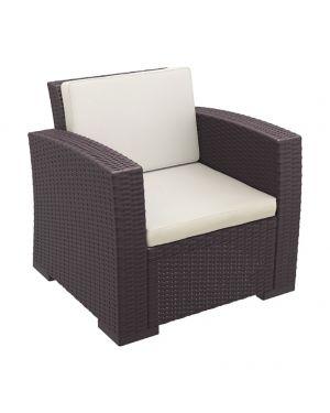Πολυθρόνα πολυπροπυλενίου Monaco με μαξιλάρι