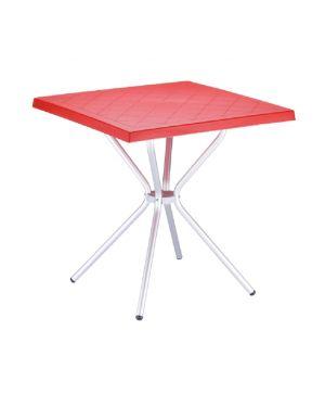Τραπέζι πολυπροπυλενίου Sortie με πόδια αλουμινίου